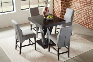 Lampton 5 Pc Dining Collection - Cappuccino Finish