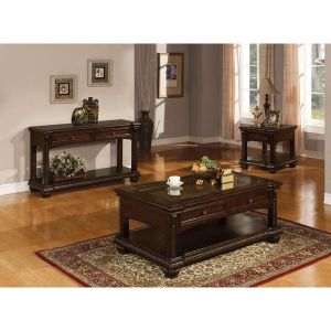 Anondale 3 Pc Occasional  Collection - Cherry Finish
