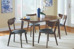 Malone 5 Pc Oval Dining Collection - Mid Century Modern