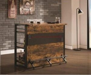 Antique Nutmeg Industrial Design Bar Unit