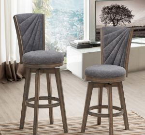 Adam Swivel Bar Stool (set of 2) - Counter or Pub Height