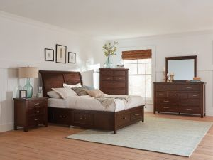 Barstow Storage Bedroom Collection - Pinot Noir Finish
