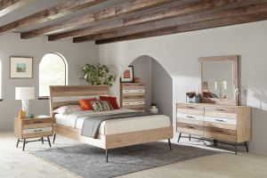 Marlow Bedroom Collection -  Rough Sawn Multi Finish