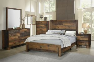 Sidney Rustic Pine Bedroom Collection - Nature Inspired