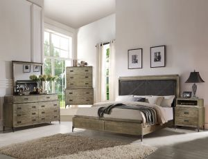 Athouman Bedroom Collection - Weathered Oak Finish