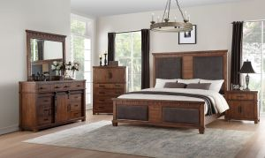 Vibia Bedroom Collection - Cherry Oak Finish