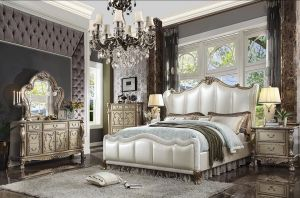 Dresden II Bedroom Collection - Gold Patina Finish
