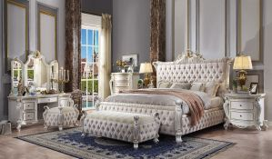 Acme - Picardy Bedroom Collection - Antique Pearl Finish