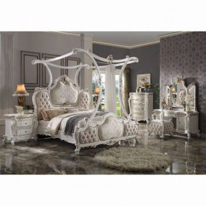 Picardy Canopy Bedroom Collection - Antique Pearl Finish