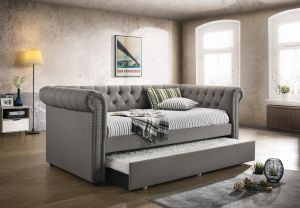 Kepner Daybed w/Trundle - Grey Fabric
