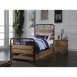 Adams Industrial Style Twin Bedroom Collection - Trundle Included