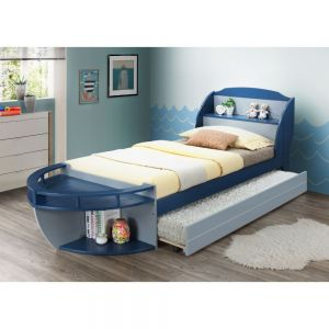 Neptune Nautical Theme Twin Bed - Storage Drawers or Trundle