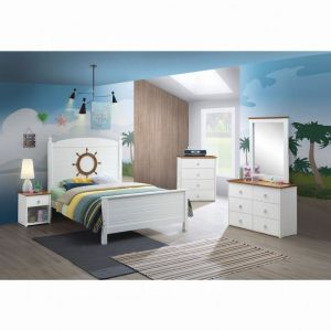 Farah 4 Pc Full Bedroom Collection - Oak White Finish