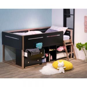 Prescott Loft Bed - Black/Rose Gold