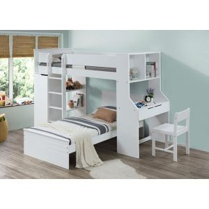 Ragna Twin Loft Bed - Slats Included