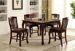 Johannesburg 5 Pc Dining Collection - Brown Cherry