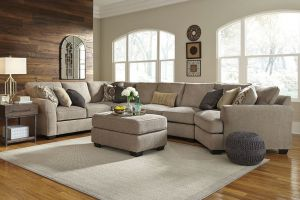 Pantomine 5 Pc Sectional - Driftwood Fabric