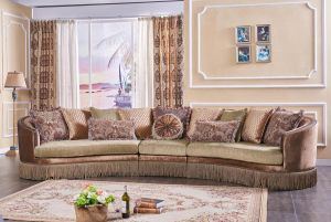 Dubai 3 Pc Sectional - Chenille Fabric