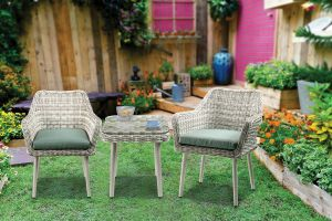 Tashey 3 Pc Patio Bistro Set