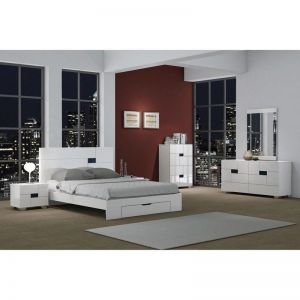 Aria White 4 Pc Bedroom Collection