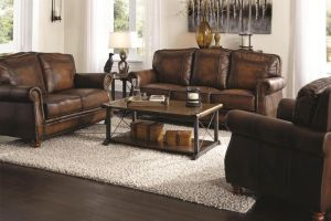 Montbrook Living Room Sofa Collection - 100% Leather