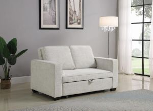Helene Upholstered Sleeper Sofa Bed - Beige Chenille