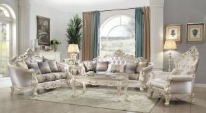Gorsedd Sofa Collection - Antique White Finish