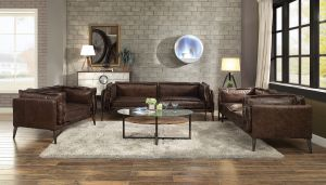 Porchester Sofa Collection - Distress Top Grain Leather