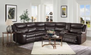 Tavin Motion Sectional - 3 Recliners - Brown or Gray
