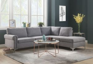 Melvyn Contemporary Sectional - Nailhead Trim