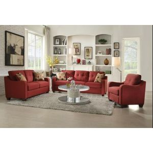 Cleavon II Sofa Collection - Red or Grey Linen