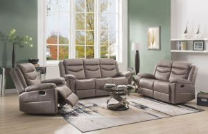 Fiacre Living Room Collection - Brown Velvet Fabric