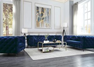 Atronia Sofa Collection - Blue or Purple Fabric