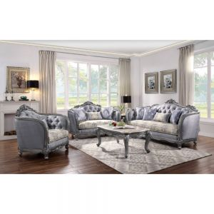Ariadne Sofa Collection - Platinum Finish