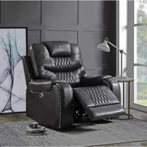 Brayon Power Recliner - Magnetite or Brown