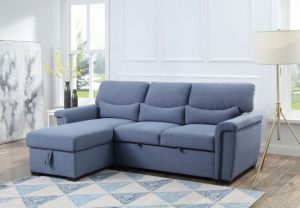 Noemi Reversible Storage Sleeper Sectional Sofa