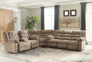 Workhorse 3 Pc Motion Sectional - 4 Recliners