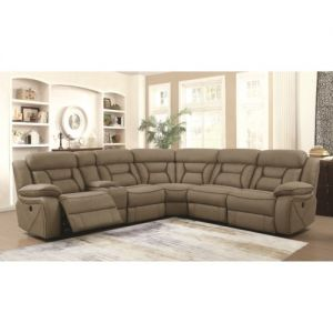 Sedona 4 Pc Power Motion Sectional - Tan Faux Suede