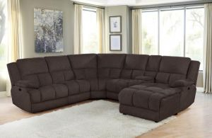 Belize 6 Pc Manual or Power Sectional - Brown or Grey
