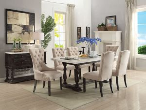Gerardo Dining Collection - White Marble Top