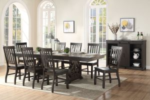 Maisha Dining Collection - Rustic Walnut Finish