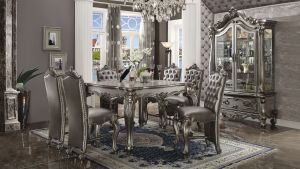 Versailles Counter Height Dining Collection - Antique Platinum Finish