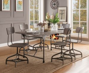 Jonquil 7 Pc Dining Set - Sandy Oak Finish