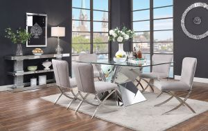 Noralie Rectangular Dining Collection - Faux Diamond Inlay