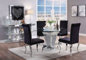 Noralie Bling Dining Collection - Faux Diamond Inlay