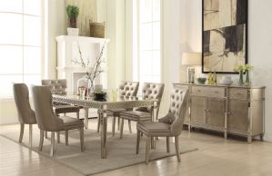Kacela Dining Collection - Champagne Finish