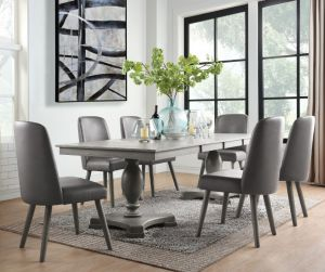 Waylon Double Pedestal Dining Collection - 2 Extension Leaves