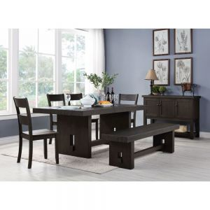 Haddie Rustic 6 Pc Dining Collection - Trestle Base