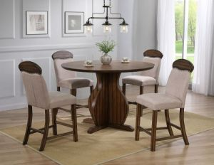 Maurice Dining Collection - Linen & Oak Finish