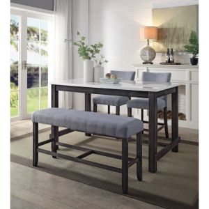Yelena 4 Pc Dining Collection - Marble Top